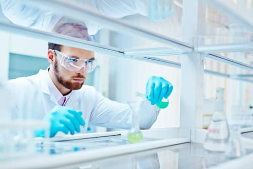 Man in Lab